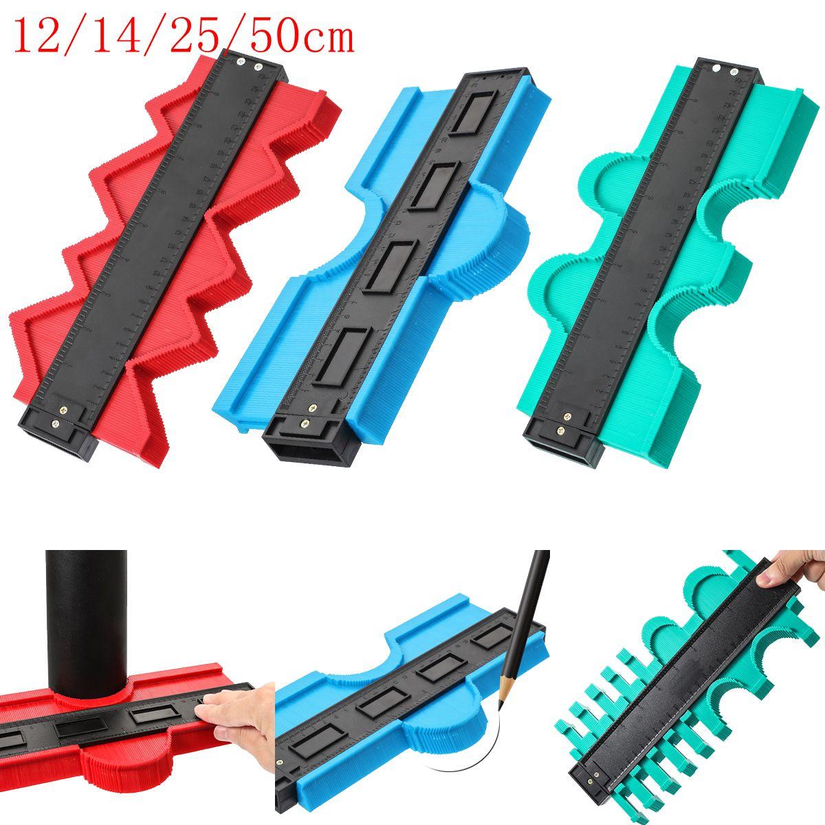 12/14/25/50cm  Contour Gauge Plastic Profile Copy Shape Contour Gauge Meter Duplicator Standard Wood Marking Flooring Tools