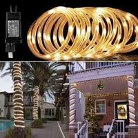 led rope lighting street garland on the house festoon led light 2030m eu plug operated