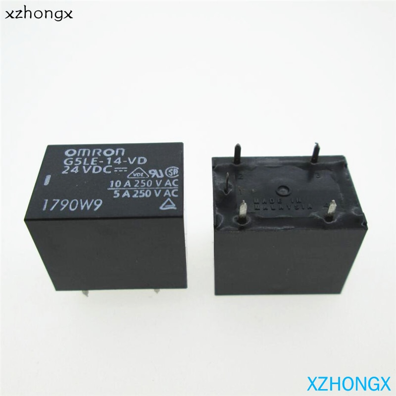 g7sa 3a1b 24vdc safety relays Реле G5LE-1-VD-24VDC G5LE-14-VD 24VDC G5LE1VD G5LE14VD 24VDC DC24V 24V 10A 5PIN