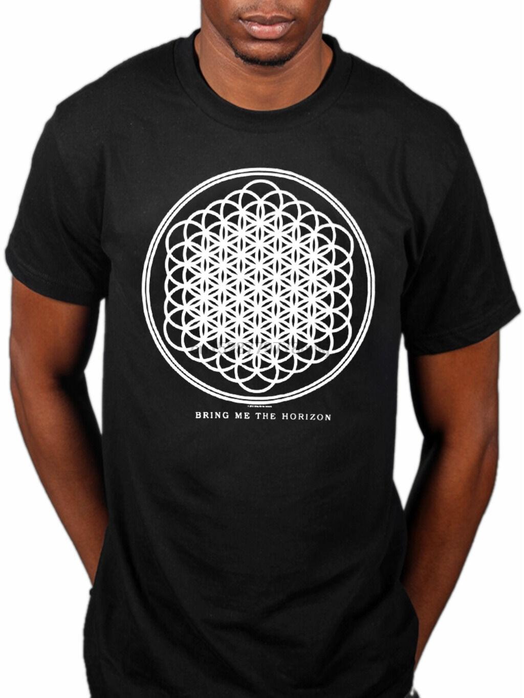 Официальный Bring Me The Horizon Sempiternal, новинка, футболка унисекс, группа, товар, металл, Мужская брендовая Футболка с принтом, 100% хлопок, топ, футболка