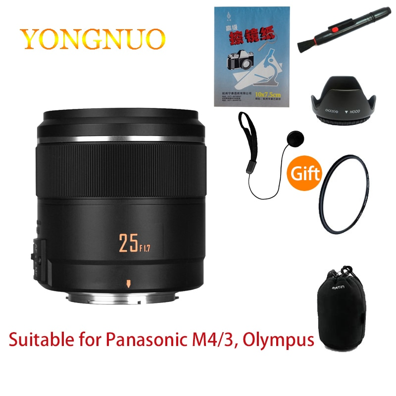 عدسة الكاميرا Yongnuo yn25mm F1.7 STM باناسونيك أوليمبوس M4/3 منفذ مايكرو واحد فتحة كبيرة عدسة التركيز التلقائي AF