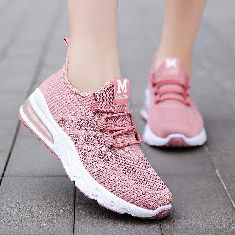 Zapatillas de correr vulcanizadas para mujer, zapatos deportivos ligeros con plataforma para...