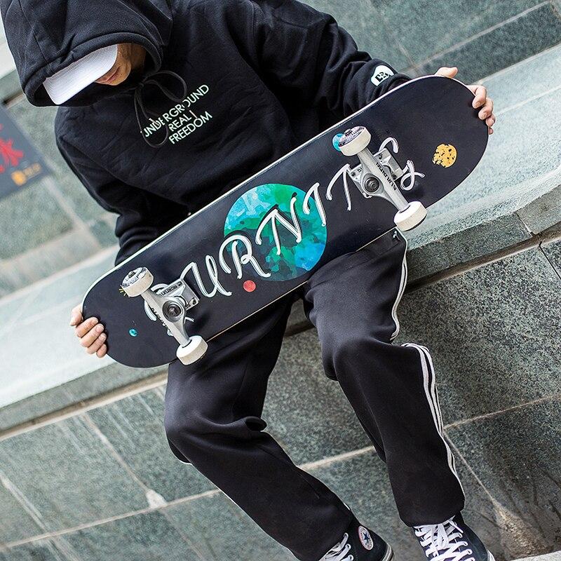 Детский скейтборд для начинающих, скейтборд, художественный модный скейтборд с двойным рокером, полный высококачественный скейтборд для з...