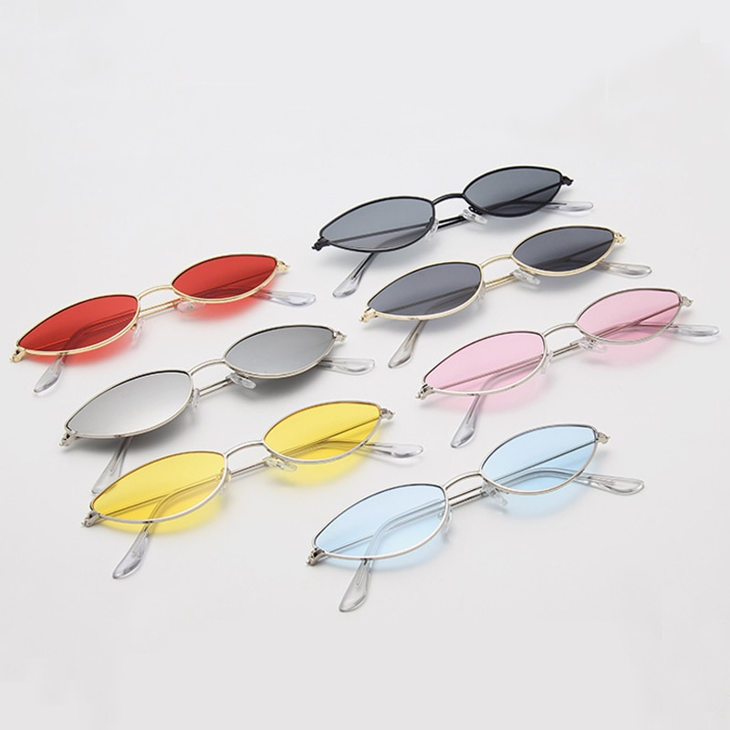 Retro Cat Eye Sunglasses Women Small Black Red Pink Cateye Sun Glasses Female Vintage Shades For Wom