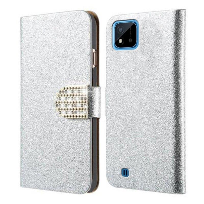 Luxury Wallet Women Cases For Realme C25 RMX3191 Etui Realmi C21 C20 C 20 Back Cover Diamond Phone H