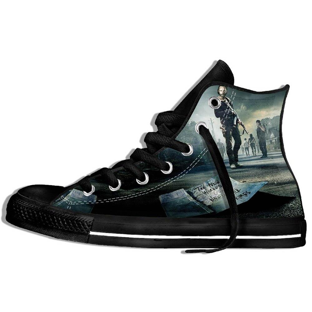 Walking Dead Tênis Sapatos Casuais Streetwear Hip Hop Engraçado Moda Verão 2021 Novo 3d Wen