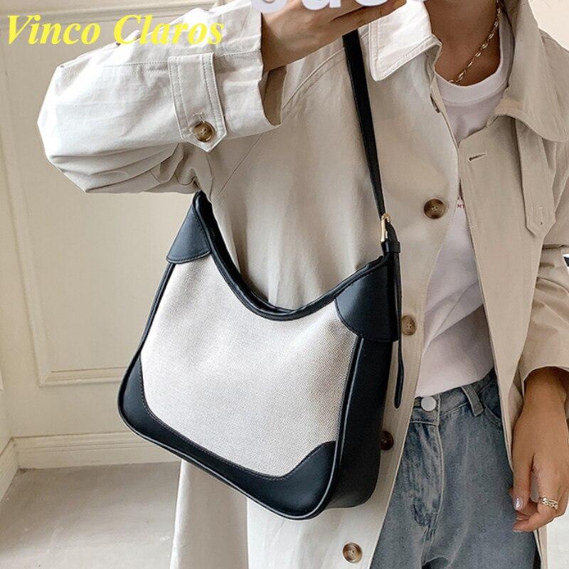 Вместительная сумка через плечо, женские сумки через плечо из искусственной кожи в стиле пэчворк, 2021, модные сумки-мессенджеры, Sac A Main