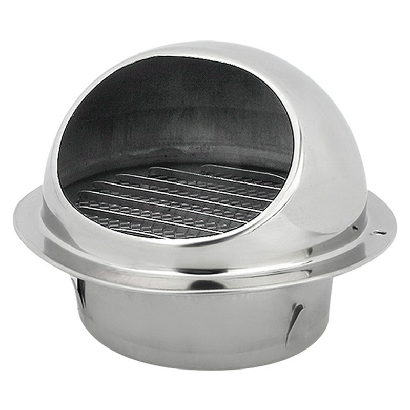 304 Stainless Steel Wall Ceiling Air Vent Ducting Ventilation Exhaust Grille Cover Outlet Heating Cooling & Vents Cap Waterproof