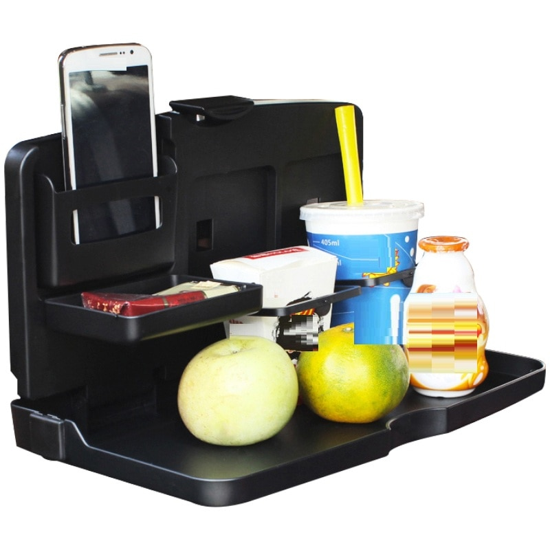 Voiture Accessoire Interieur Auto Front Seat Accesorios Coche Accessories Interior Car Organizer Drinking Food Folding Table enlarge
