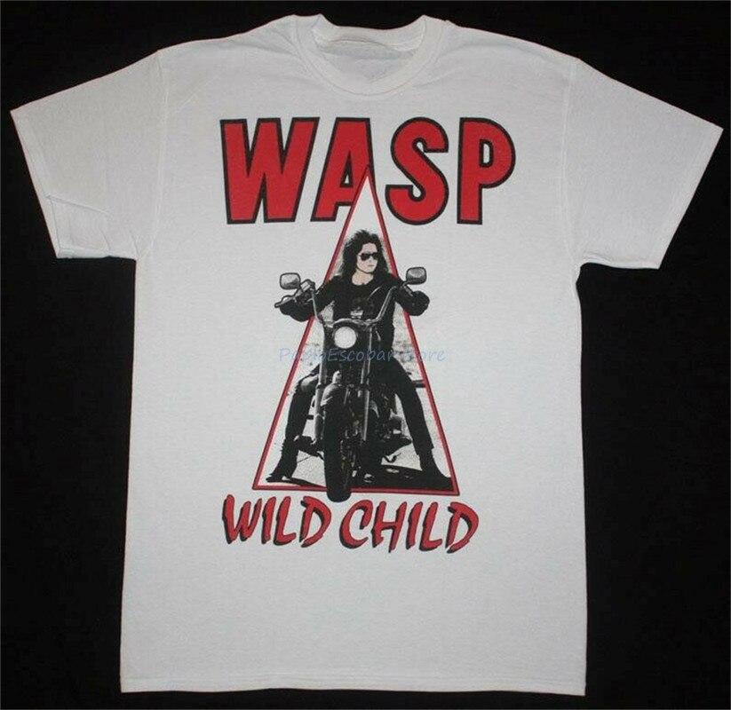 W.a.s. Wild Child'85 тяжелая металлическая лента ОСА витая сестра новая белая футболка винтажная графическая футболка