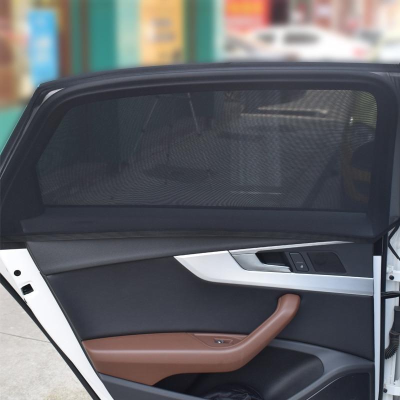 2 шт., автомобильные солнцезащитные занавески для лобового стекла