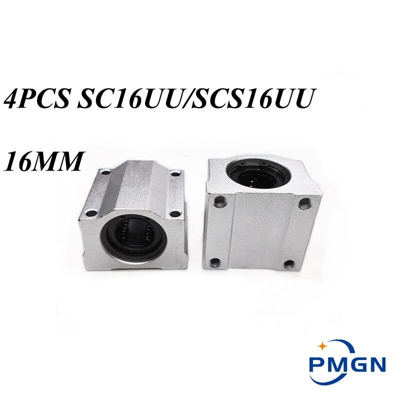 عالية الجودة 4 قطعة/الوحدة SC16UU SCS16UU 16 مللي متر الخطي اضعا الكرة الحركة الخطية الشريحة كتلة CNC راوتر المصنع مباشرة