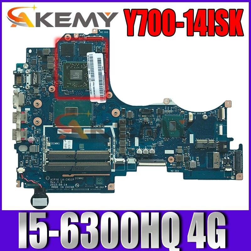 ينوفو Y700-14 ISK اللوحة المحمول I5-6300HQ 4G عدد FRU 5B20K44770 5B20M55516 5B20K81628 5B20M55503