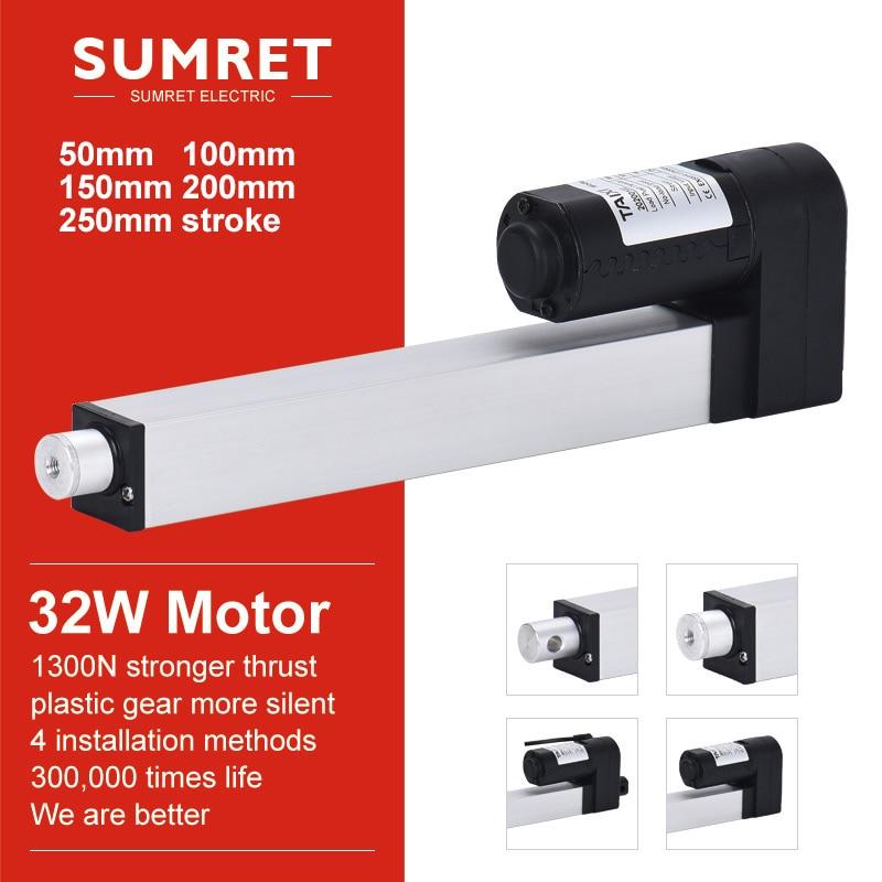 electric linear actuator mini  window DC 24V 12V 50mm 100mm 150mm 200mm 250mm stroke micro telescopic Push rod lift putter
