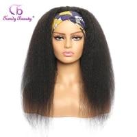 180 density headband wig human hair kinky straight glueless indian remy headband wigs for black women human hair wigs