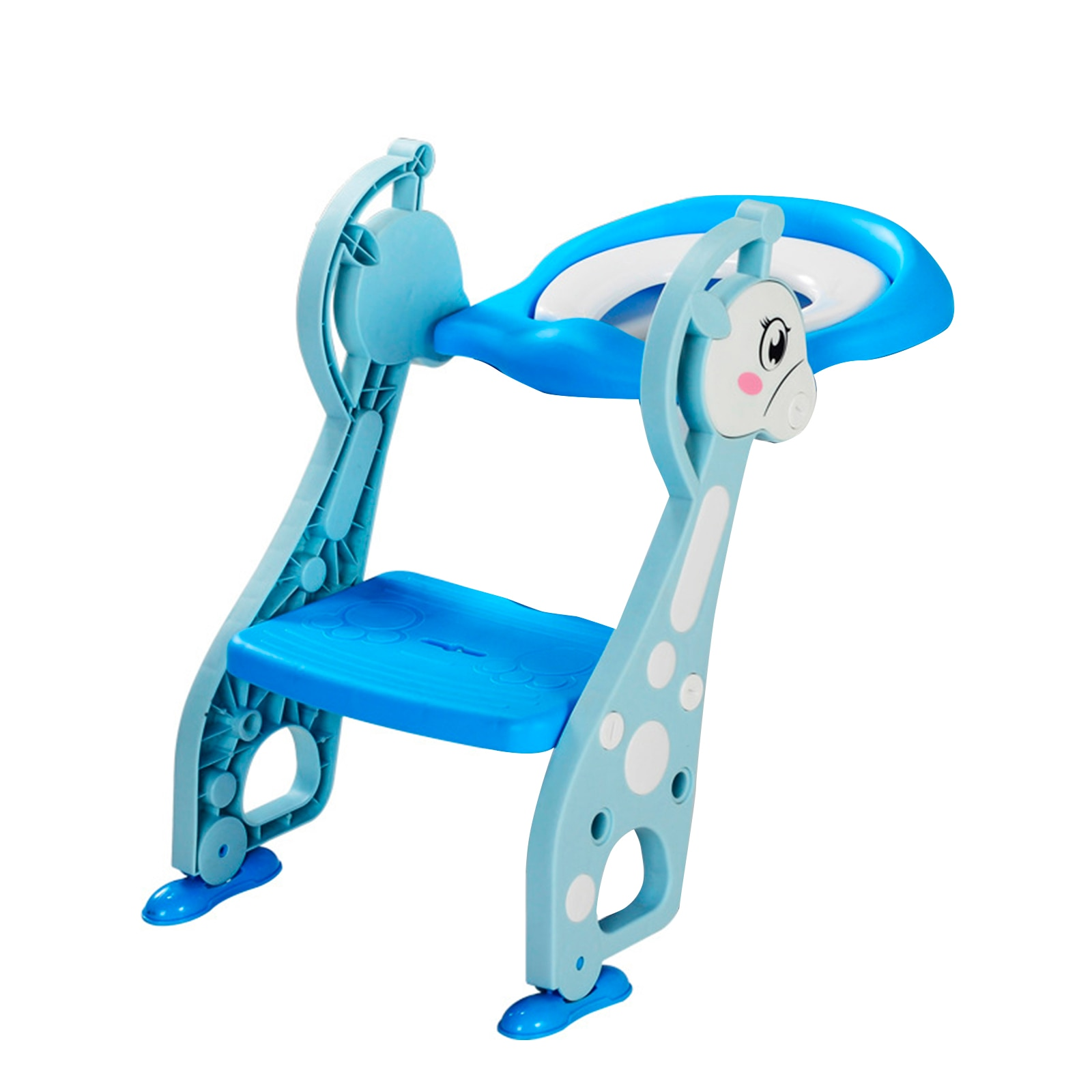 Adjustable Foldable Toddler Toilet Training Seat Potty With Sturdy Non-Slip Ladder Step