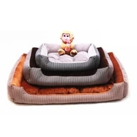 pet dog bed cat nest teddy golden hair dogs mat stripes nest pets products for puppies dog bed mat lounger bench cat sofa