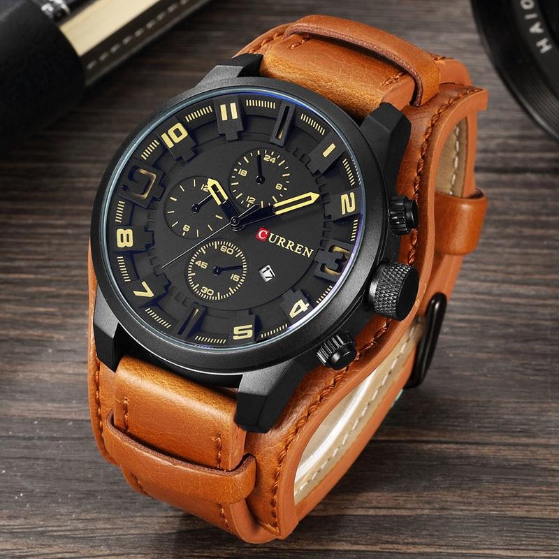 Relojes CURREN para hombre de la mejor marca de lujo de moda y Casual de negocios reloj de cuarzo fecha reloj de pulsera impermeable Hodinky reloj Masculino