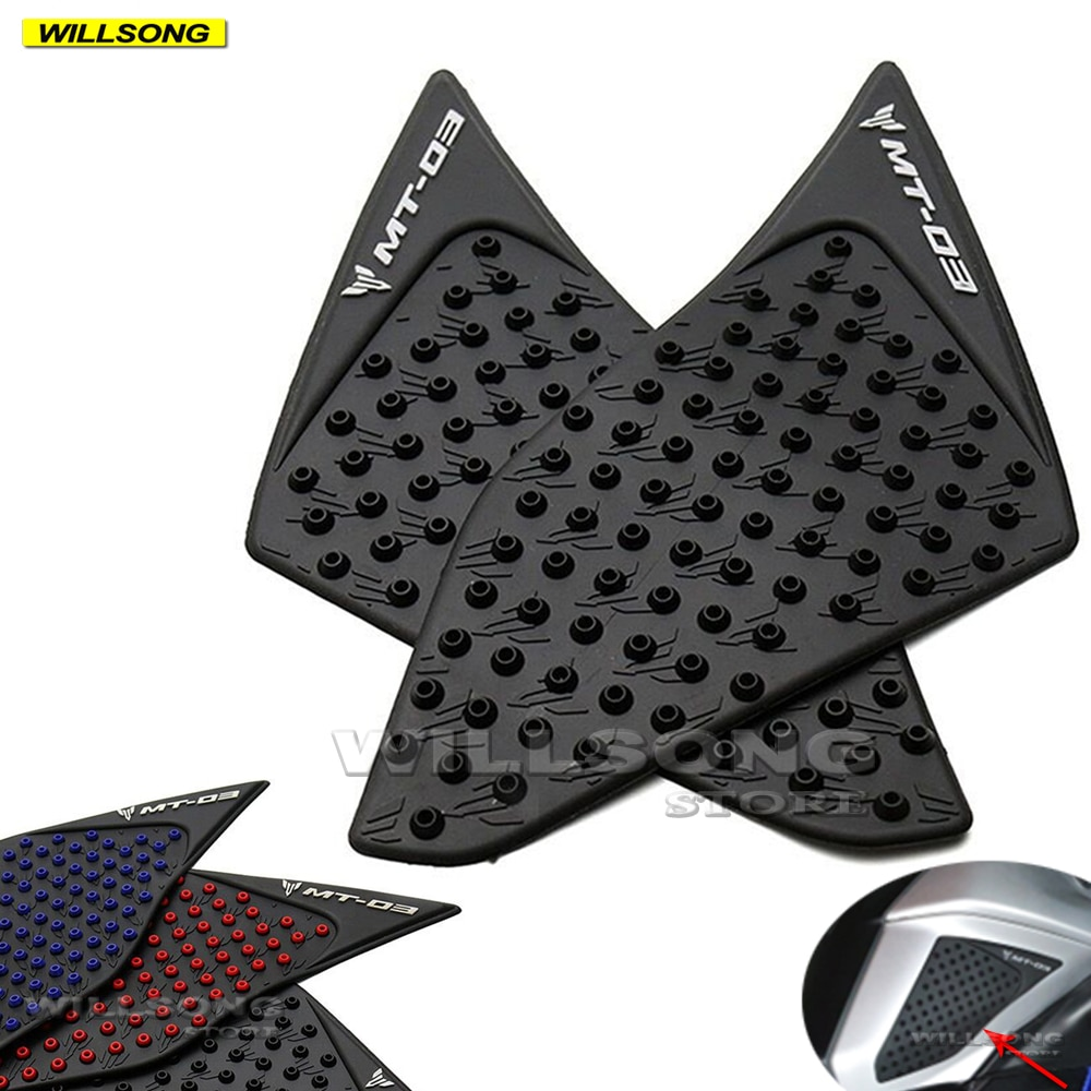 Anti Slip Sticker Tank Pad Side Knee Grip Protector For YAMAHA MT-03 2015 2016 Year Motorcycle Accessories