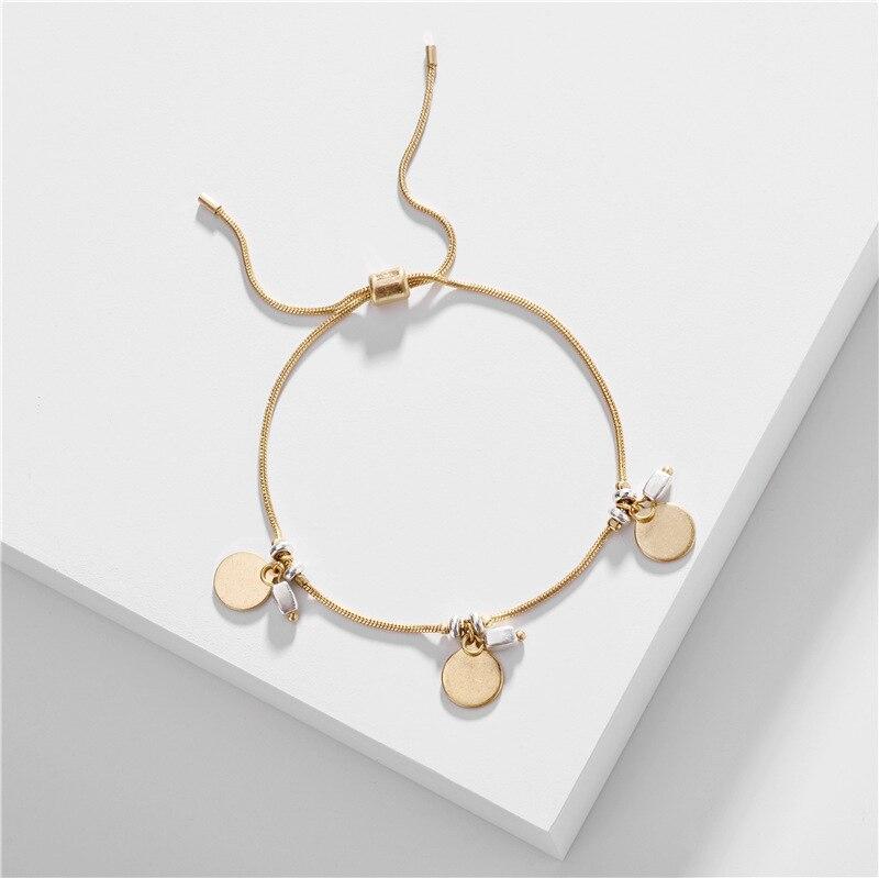 Joolim Jewelry Wholesale Dot Ajustable Charm Bracelet Gold Bracelet