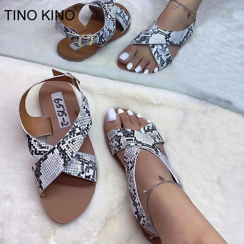 2020 sandalias de verano planas con hebilla en el tobillo para mujer, zapatos casuales de playa de Color caramelo para mujer, a la moda para damas
