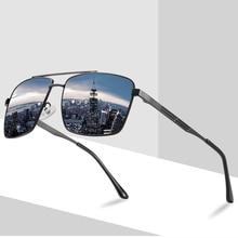 Men HD Polarized Sunglasses Fashion Rectangle Rays Brand Designer 2021 New Driving Sun Glasses for M