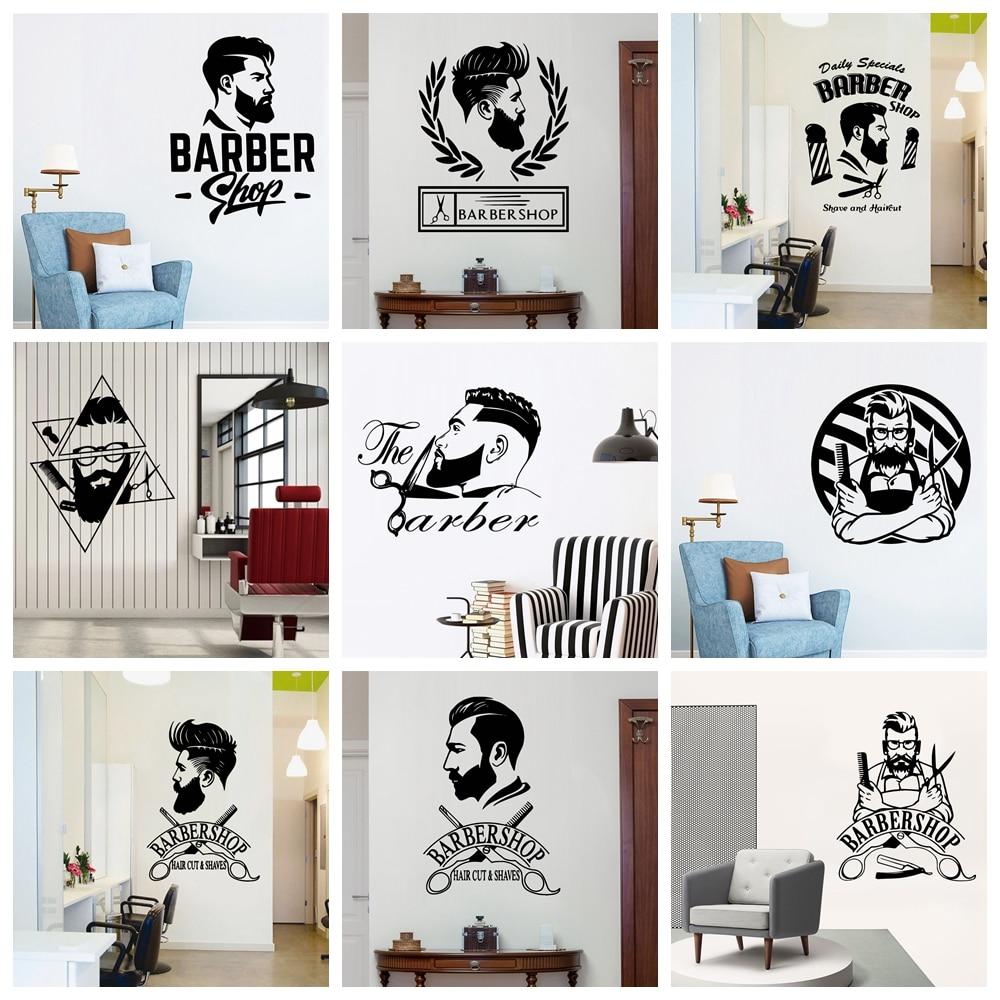 Креативная Парикмахерская виниловая наклейка на стену для парикмахерской декорация на стену наклейки на стену настенные фрески Декор на с...