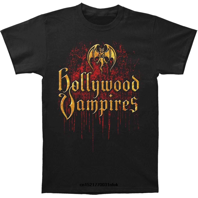 Camiseta divertida para hombre, novedad, camiseta, camiseta de goteo con Logo de vampiro de Hollywood