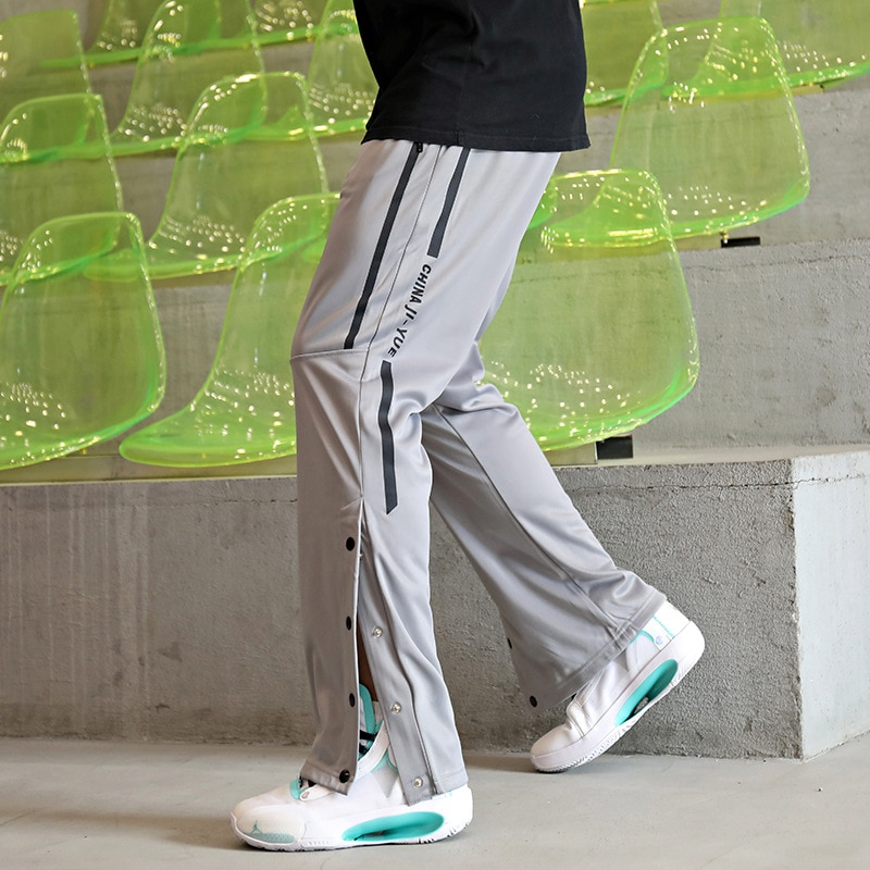 Брюки мужские прямые спортивные, повседневные штаны на пуговицах, модные Слаксы в уличном стиле