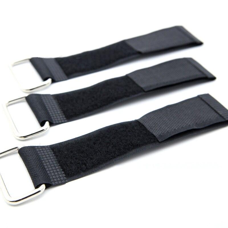 Material de Nylon correas de embalaje atadas con hebilla de hierro negro correas de Velcro ropa de tiras artículos de almacenamiento cinta de acabado
