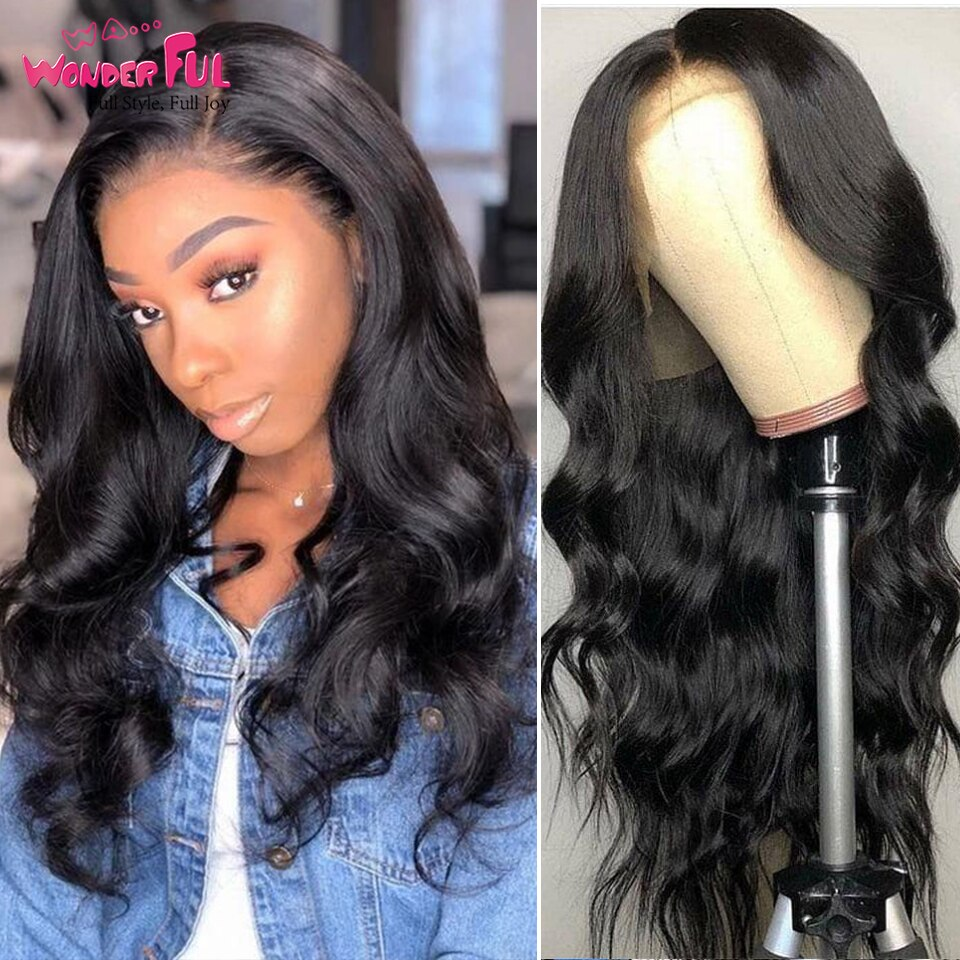 Body Wave Lace Wig 360 Frontal Wig Lace Front Human Hair Wig With Baby Hair Brazilian Body Wave Lace Frontal Wig