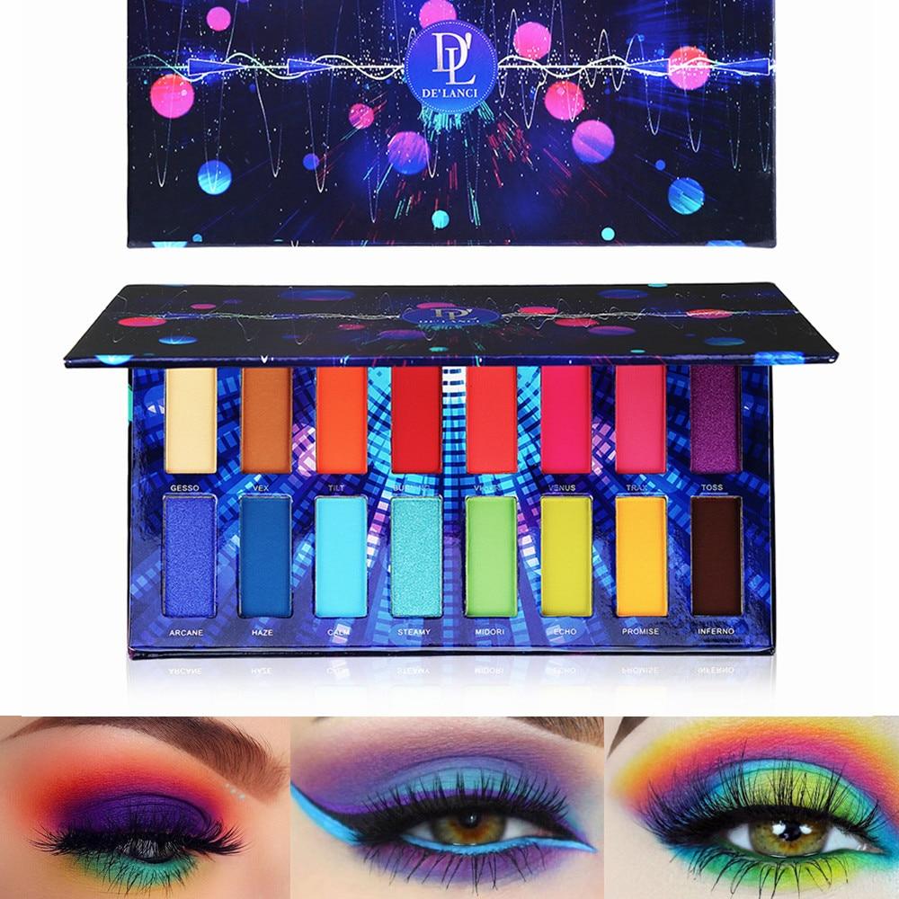 Moda 16 cores pigmento sombra paleta shimmer fosco sombra de olho pó beleza produto cosméticos à prova dwaterproof água maquiagem pallete
