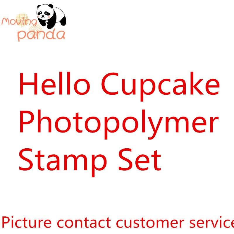 Jc063 olá cupcake metal corte dados carimbo estêncil para diy scrapbooking álbum de fotos gravando artesanato decorativo morrer