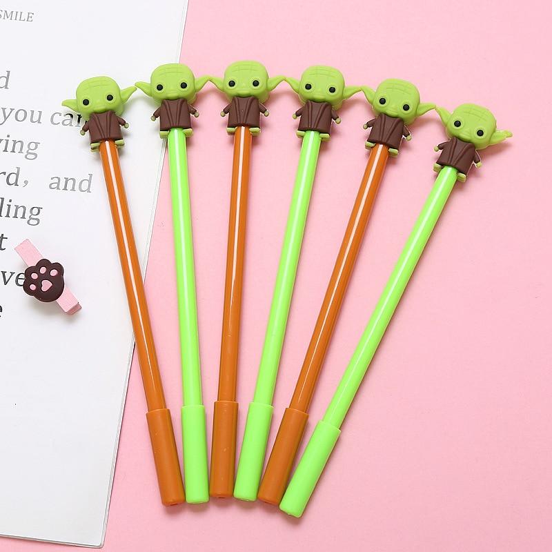 Звездные войны мандалориан йода Детские шариковые ручки реквизит канцелярские товары случайные цвета 1 шт