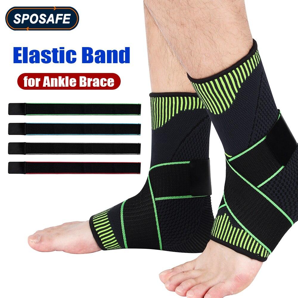 Спортивный бандаж для поддержки голеностопа, эластичный бандаж для поддержки голеностопа, компрессионный бандаж, застежки, ремни для безоп...