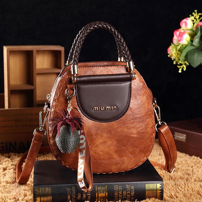 Vintage Matte PU Leather Designer Bucket Handbags for Women High Quality Shoulder Bags Ladies Crossbody Totes Shopping Bag Bolso