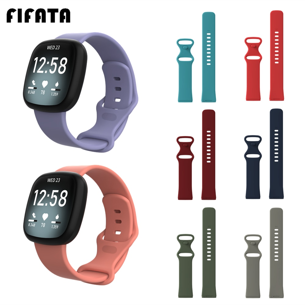FIFATA Watch Band For Fitbit Versa 3 Silicone Wrist Strap For Fitbit Sense Sport Smart Bracelet Wristband Versa3 Accessories