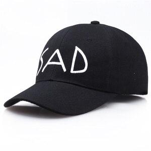 Kpop Baseball Caps Women Solid Color Letter SAD Embroidery Bonnet Gorras Hombre Cotton Casual Hip Hop Snapback Hat Chapeau Kappe