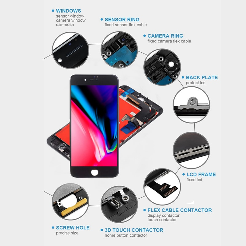 Wholesale Mobile Phone Lcd,ScreensScreen Replacement For iPhone 4,4s,5,5s,6, 6,E,6S,7,8Plus Lcd, 3D Touch,100% Tested enlarge
