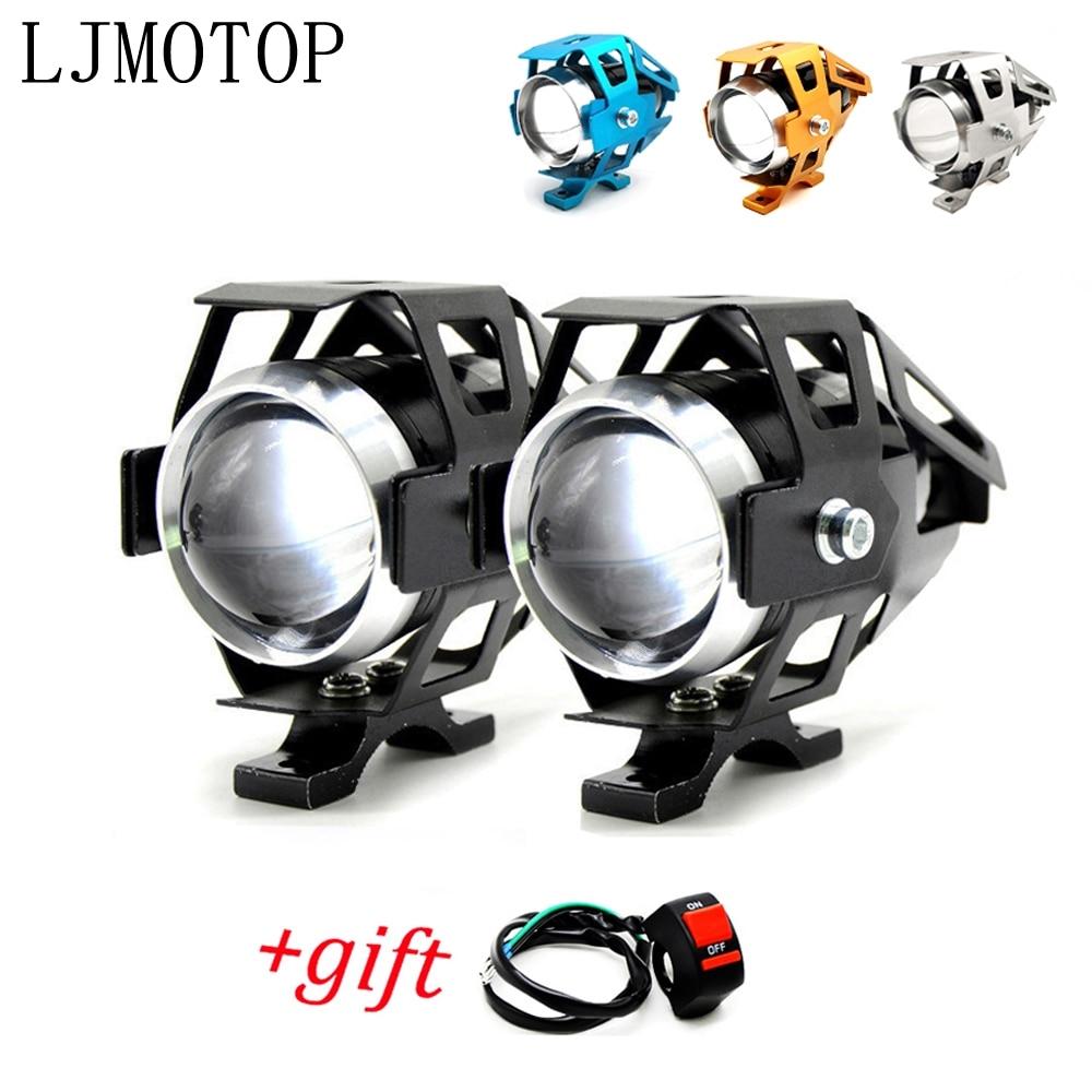 Faros de motocicleta lámpara auxiliar U5 led proyector 12V DRL para SUZUKI V-Strom 650/DL650 1000/DL1000 250/DL250