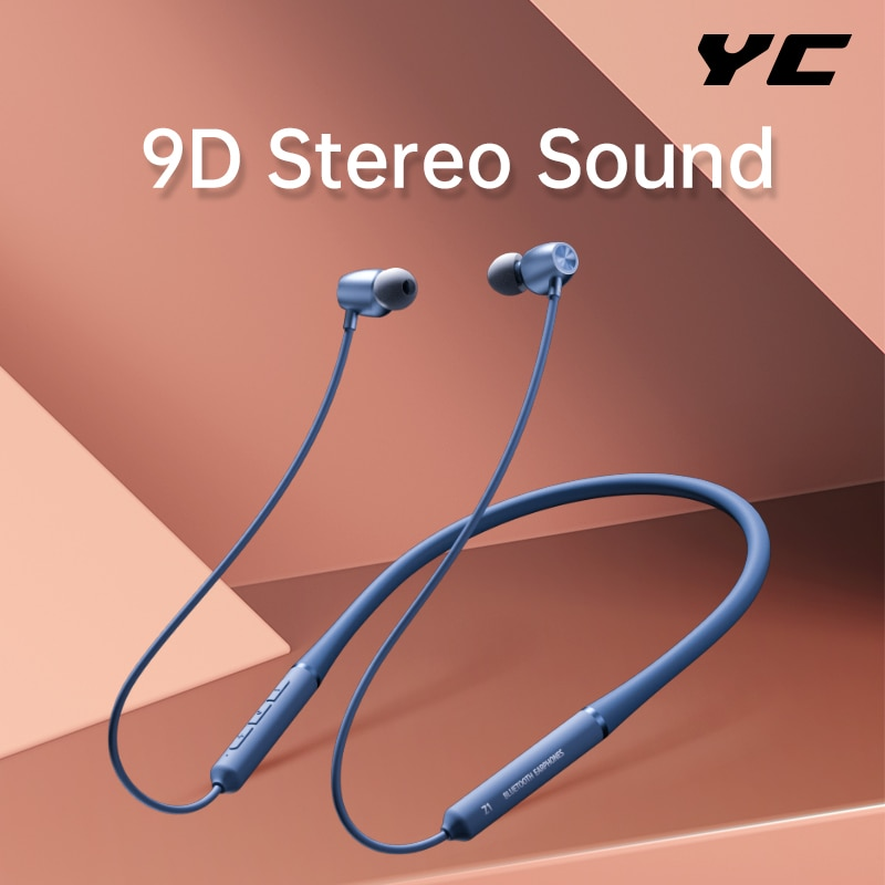 YC Wireless Headset Sport Kopfhörer Bluetooth V 5,0 Kopfhörer Mit Mikrofon Neckband HiFi Bass Stereo Headset Für Xiaomi Sony