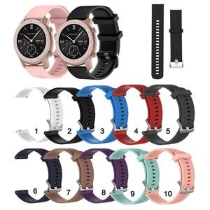 20mm Soft Silicone Strap Band for Huami Amazfit GTR 42mm for Huami GTS 2 / Bip Lite S U/Amazfit Neo
