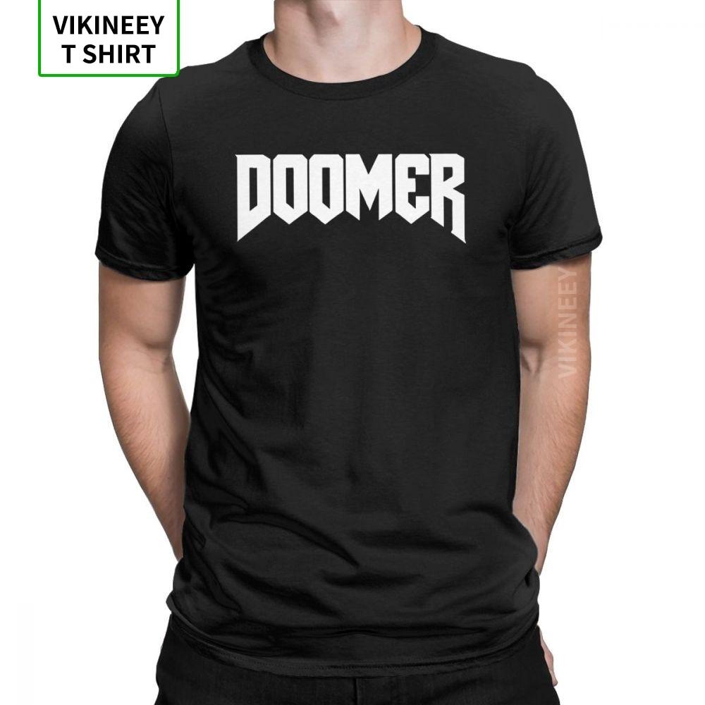 Doomer Doom camisetas para hombres Retro juego Conan bárbaro thussa Snake Cult algodón tela Tees de manga corta Camiseta gráfica Tops