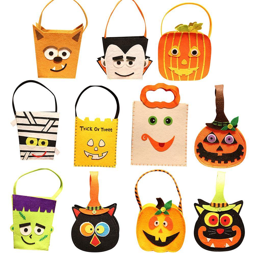 Bolsa de calabaza de Halloween con estampado de caricaturas bolsa de búho, bolsa de regalo para niños, bolsa de decoración para Festival, bolsa de Halloween, almacenamiento de golosinas, fiesta de Halloween