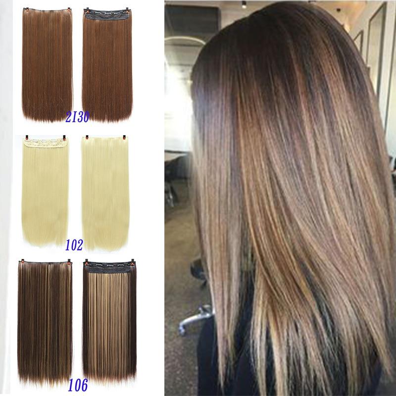 Xuanguang cinco tipo de cartão longo grampo de cabelo sintético na extensão do cabelo hairpiece ondulado natural pedaço de cabelo