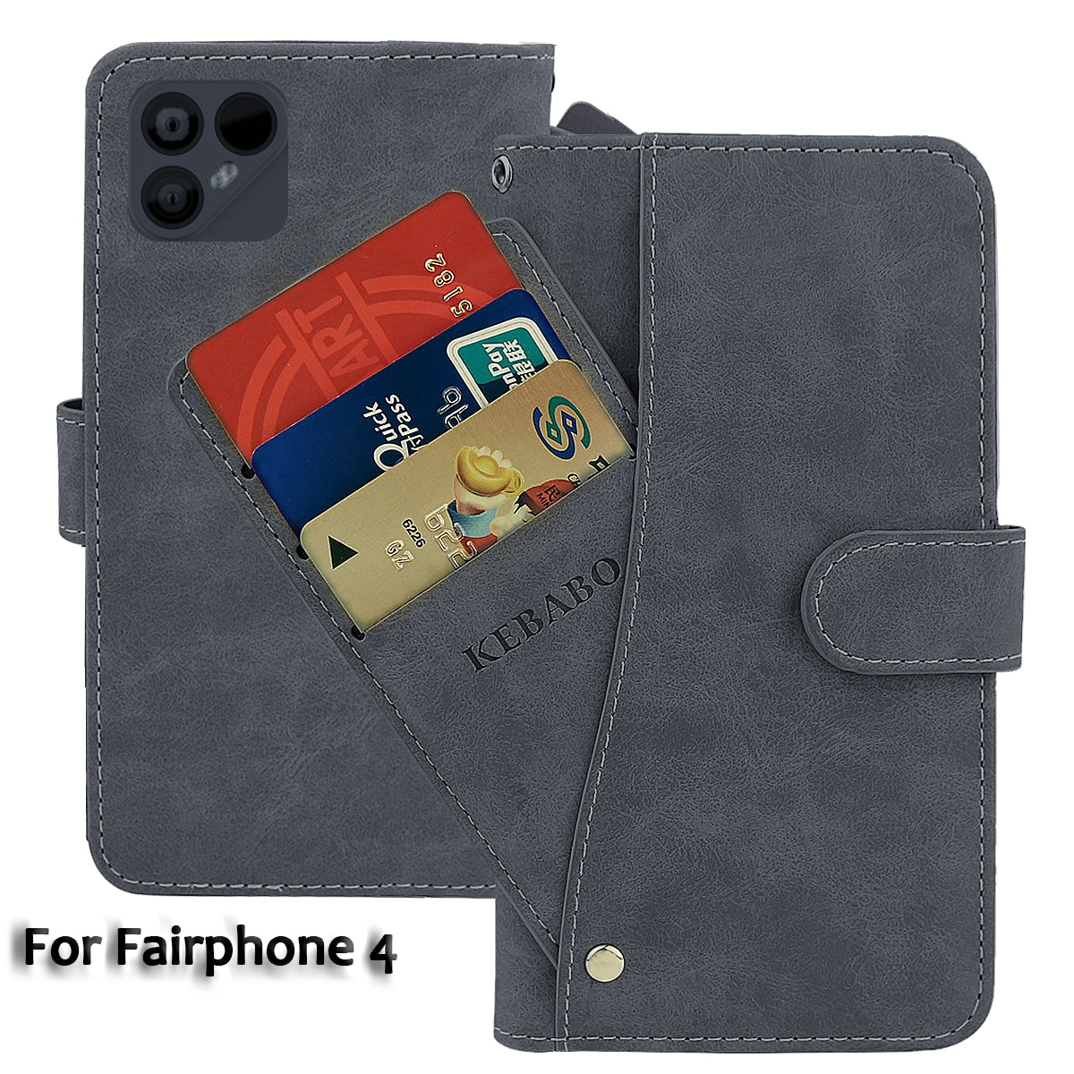 Leather Wallet Fairphone 4 Case 6.3