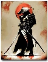 fine samurai warrior wall art unframed canvas paintings home decorations pictures art for living room bedroom paintings poster