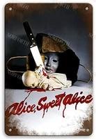 Alice Sweet Alice     panneau de Film en metal  Vintage  pour Garage  Club  homme  grotte  cafe  Pub  8x12 pouces