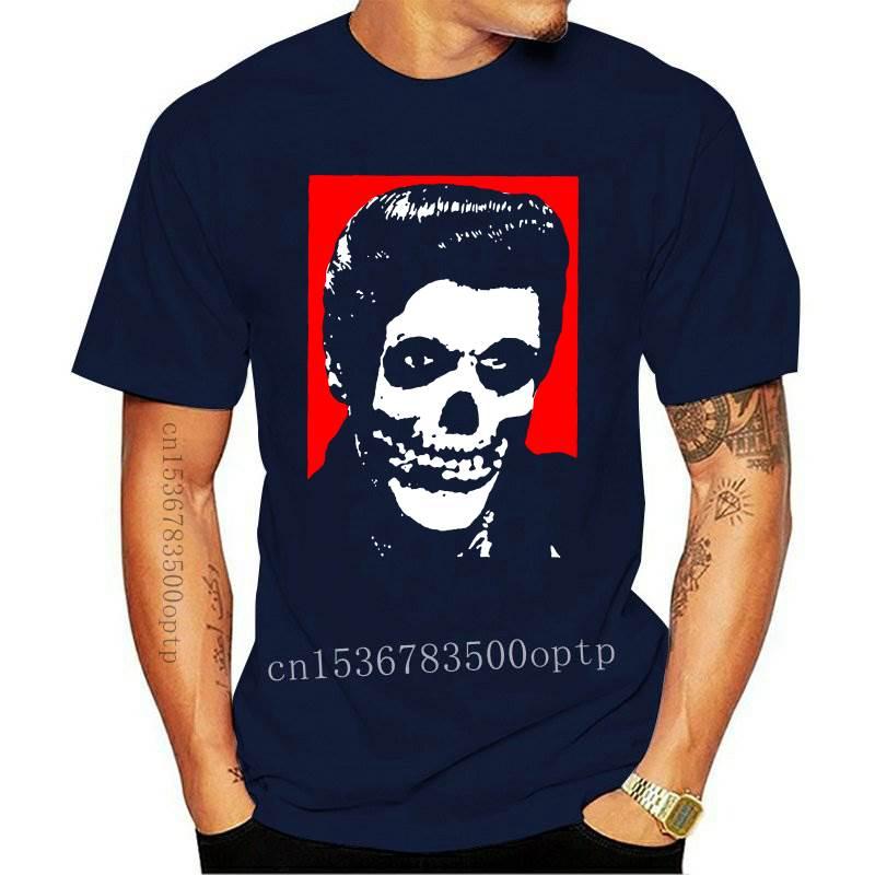 New Horror Movie Tee Misfits Crimson Ghost Elvis Classic Cool Graphic T-Shirt for Men Women