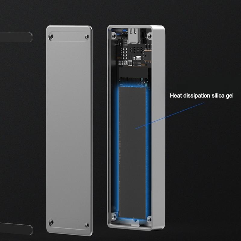 BLUEENDLESS M.2 Nvme موبايل قرص صلب صندوق Usb3.1 الكمبيوتر المحمول SSD الخارجية نوع-C USB-A الحالة الصلبة قرص صلب صندوق M3GD